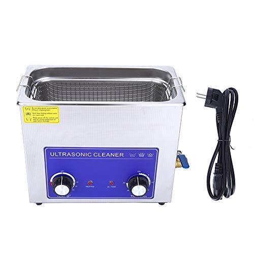 LANTRO JS – Nettoyeur à Ultrasons Professionnel, 20 à 80 Degrés Celsius, Nettoyeur à ultrasons Professionnel en Acier Inoxydable avec réservoir et Panier de Nettoyage chauffé(2L)