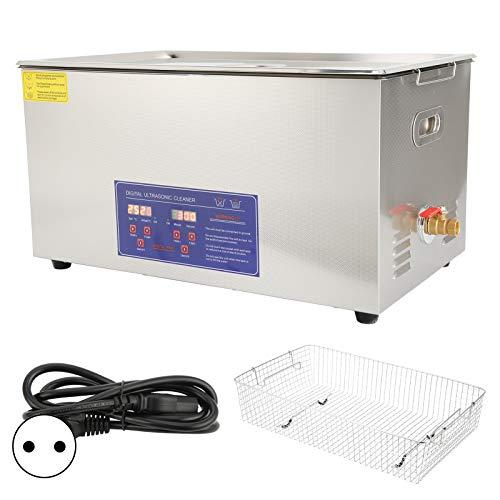 Nettoyeur à ultrasons 22L PS-80A Minuterie de Chauffage de Nettoyage de Bain de réservoir Ultra sonique numérique pour pièces de Monnaie Petites pièces métalliques Carte (EU Plug 220V)