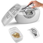 Nettoyeur à ultrasons chauffant, machine de nettoyage à ultrasons numérique 2,5L pour montres, bijoux, outils, brosses à dents, valves(220V EU plug)