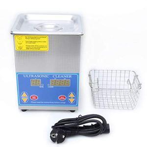Nettoyeur à ultrasons de bijoux en acier inoxydable de 2 L avec minuteur numérique LED pour lunettes de bijoux (prise UE)