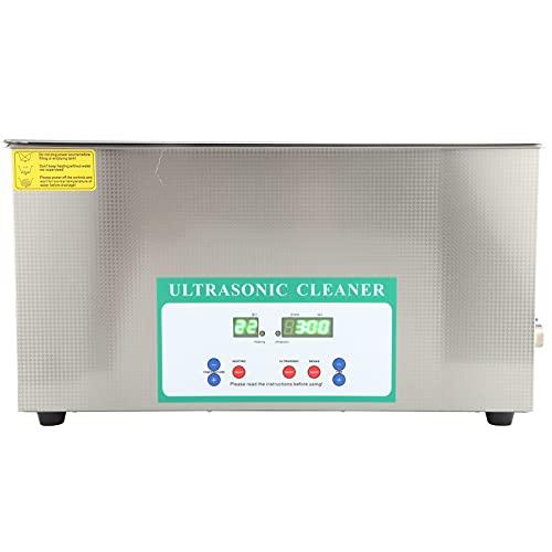 Nettoyeur de bijoux à ultrasons, Machine de nettoyage à ultrasons 480W Contrôle du temps professionnel(AC220V European plug)