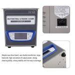 Nettoyeur ultrasonique de bijouterie, nettoyeur ultrasonique de puissance réglable numérique machine de nettoyage pour laboratoire (1.3L-prise de l'UE)