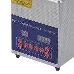 Nettoyeurs à ultrasons de laboratoire, nettoyeur à ultrasons 40KHz/33KHz double fréquence 2L pour lunettes pour bijoux pour circuit imprimé pour montres(European standard AC200-240V, pink)