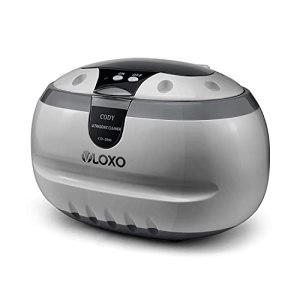 VLOXO Nettoyeur à Ultrasons 600ML Bac Ultrasons Professionnel 42000 Hz Appareil de Nettoyage pour Bijoux Lunettes Montres Dentiers avec Support Montre et Panier de Nettoyage – Argent