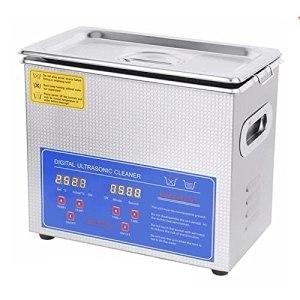 Nettoyeur à ultrasons 120 W, Lave-Linge de Bain 3L Sonic Ultra Sonic avec minuterie et Chauffage numériques, pour Bijoux, Montre, Lunettes, Nettoyage du carburateur