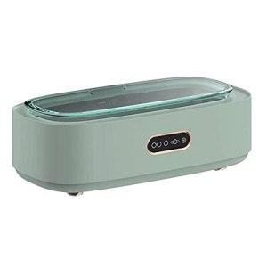 Nettoyeur à ultrasons 300ML, Machine de Nettoyage de Bijoux de Bain Ultra Sonique 45khz avec réservoir en Acier Inoxydable, pour Lunettes de Montre de Collier de Boucle d'oreille (Color : Vert)