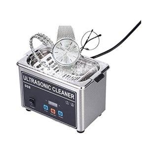 Uioy Nettoyeur à ultrasons 800 ML, Machine à Laver de Bain Ultra sonique Domestique 35 W avec Panier en Acier Inoxydable, pour Bijoux bagues Montres Lunettes prothèses dentaires