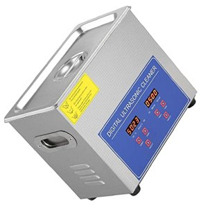 Evazory Nettoyeur à ultrasons numérique Ps-10a 2l Bain numérique en acier inoxydable pour bijoux Petite pièce Lunettes Produits chimiques Maison (Argent)