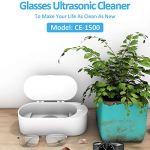 Nettoyeur à ultrasons, équipement de Nettoyage 360° Tout-Rond Portable pour Lunettes pour Bijoux pour pièces de Monnaie pour bagues