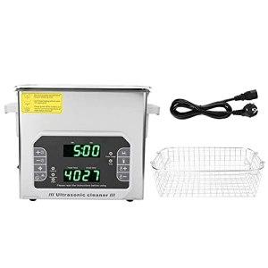Nettoyeur à ultrasons, machine de nettoyage à ultrasons, dégazage et dégraissage tactile multifonction à un bouton, (prise européenne 200-240V)