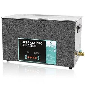 Nettoyeur à ultrasons SupRUCCI 30L avec chauffage et minuterie numérique, 10 transducteurs de qualité industrielle Machine de nettoyage de laboratoire 600W pour le nettoyage professionnel