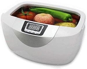 NICETOW Nettoyeur à ultrasons Nettoyeur de Fruits et légumes Affichage numérique, Nettoyeur à ultrasons 5 Options de synchronisation avec Couvercle de Protection, Machine de Nettoyage à ultr