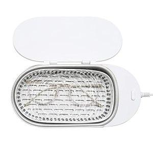skrskr Mini nettoyeur de bijoux à ultrasons 400 ml machine de nettoyage à ultrasons professionnelle portable pour Prothèses s Montres Rasoirs Boucles d'oreilles Colliers Anneaux Outils Petits objets