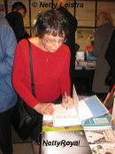 "Coryne Hall signing her newest book ""Princesses on the Wards. Royal Women in nursing through wars and revolution""."