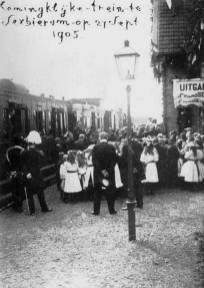 Royal train at Sexbierum, 27 September 1905. Source: http://oudtzummarum.nl/