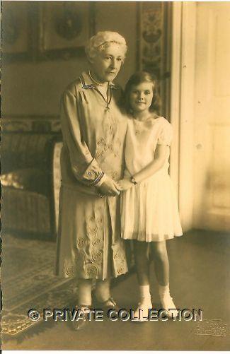Woizlawa Feodora with her maternal grandmother.
