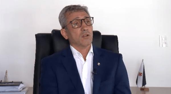Alexandre Campello, presidente do Vasco, aguarda respostas