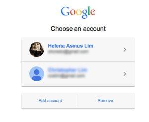 Choose Google Account