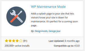 WordPress Maintenance Mode plugiin