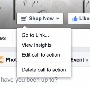 additional options for Facebook Shop Now button