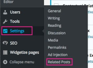 goto Contextual Related Posts plugin settings to customize
