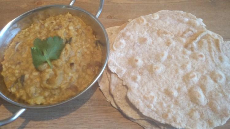 Tarka Daal With Homemade Chapati