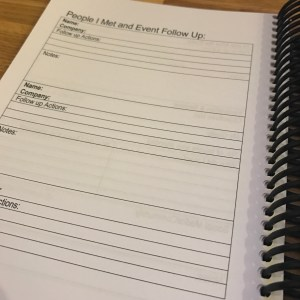 Networking Planner - Contacts follow-up