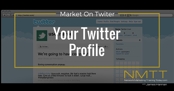 Market On Twitter: Setup your twitter profile
