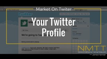 market on twitter - your twitter profile