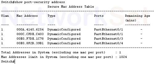 الـ Port Security أعداده وأهميته في رد هجوم الـ MAC flooding