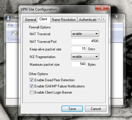 Shrew Soft VPN Client -2