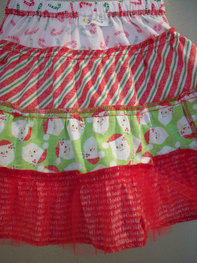 Inside of finished skirt