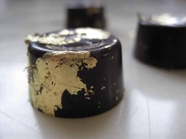 Honey BonBons with 23k edible gold leaf