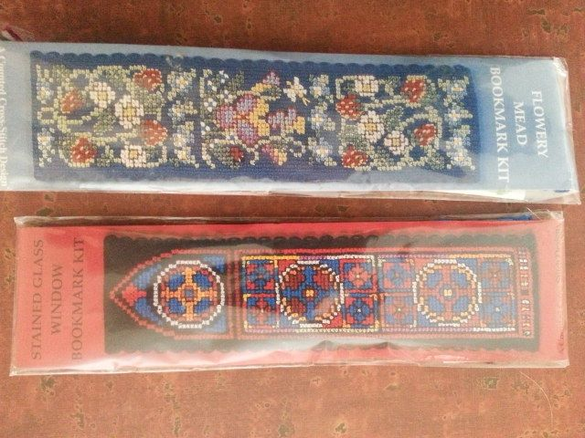 Needlepoint bookmarks from London--10 years ago so well aged.