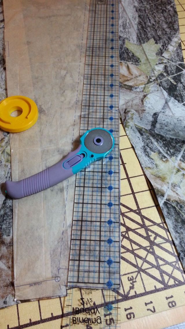 Use ruler for straight cuts