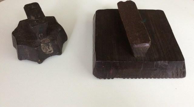 Teak Textile Blocks I bought