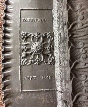 name plate on stove 1845