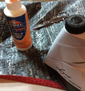 Speed dry glue with iron