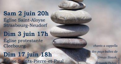 Invitation au concert : Harmonies baltes le 2 juin à Saint-Aloyse