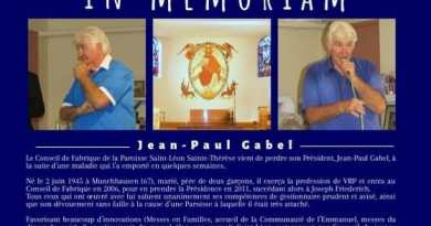 In mémoriam : Jean-Paul Gabel