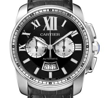 Calibre de Cartier Chronograph jetzt auch mit schwarzem Zifferblatt