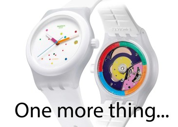 """Swatch will sich Apples """"One more thing"""" sichern"""