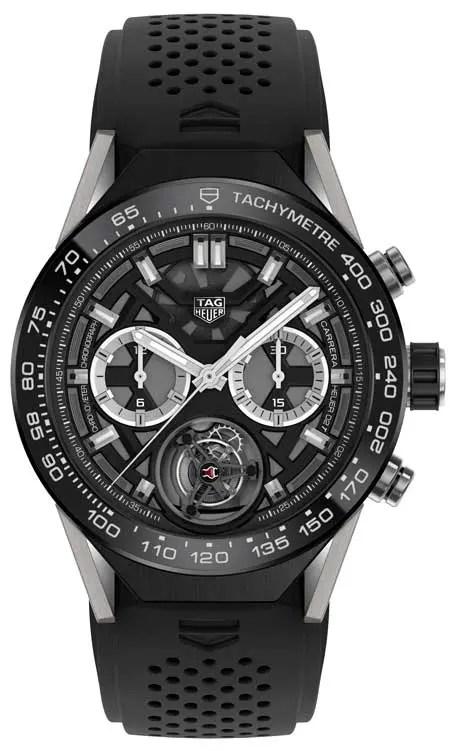 mechanischen Chronographenmodul mit Tourbillon Heuer-02T