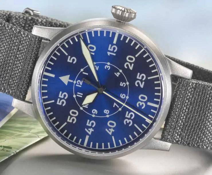 Neue Fliegeruhrenkollektion Blaue Stunde von Laco