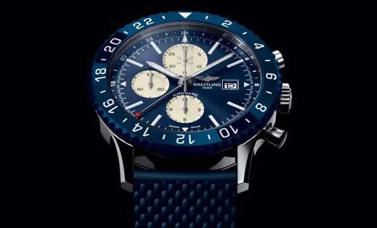 Breitling Chronoliner blau