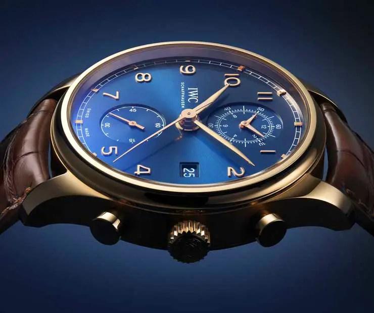 Neu: IWC Portugieser Chronograph Classic Bucherer Blue Editions