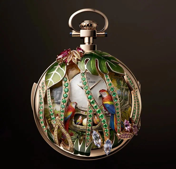 Jaquet Droz Parrot Repeater Pocket Watch
