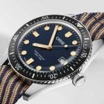 Oris Divers Sixty-Five mit Armband aus recyceltem Kunststoff