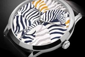 Hermès Sondereditionen mit Zifferblättern aus Lederintarsien