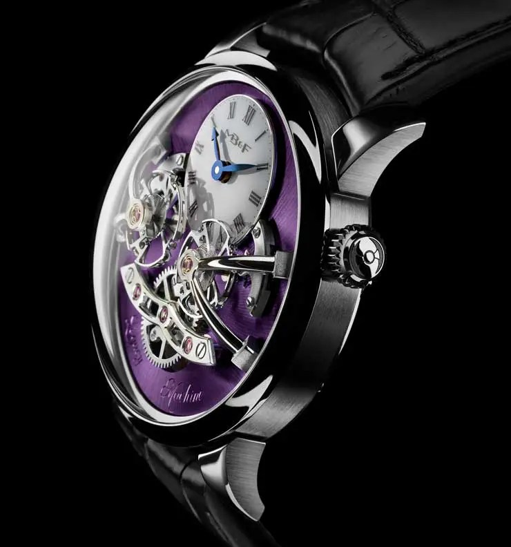 MB&F Legacy Machine No2 White Gold Purple